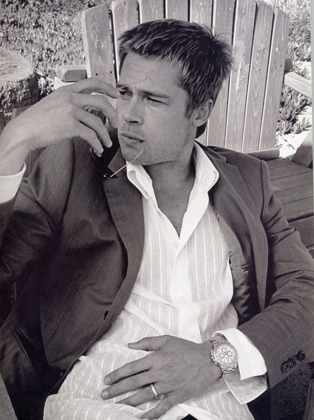 Brad Pitt and his Steel Rolex Daytona