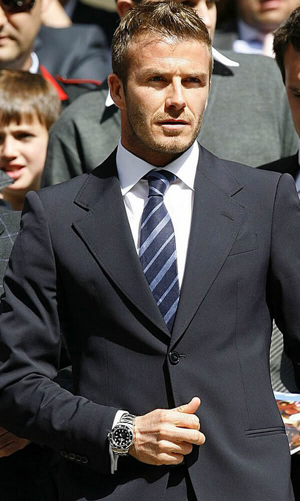 David beckham wearing a rolex deepsea rubber b for Celebrity wearing rolex watches