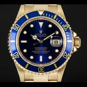 Rolex-18k--Blue-Dial-Submariner-B-P-16618[5]