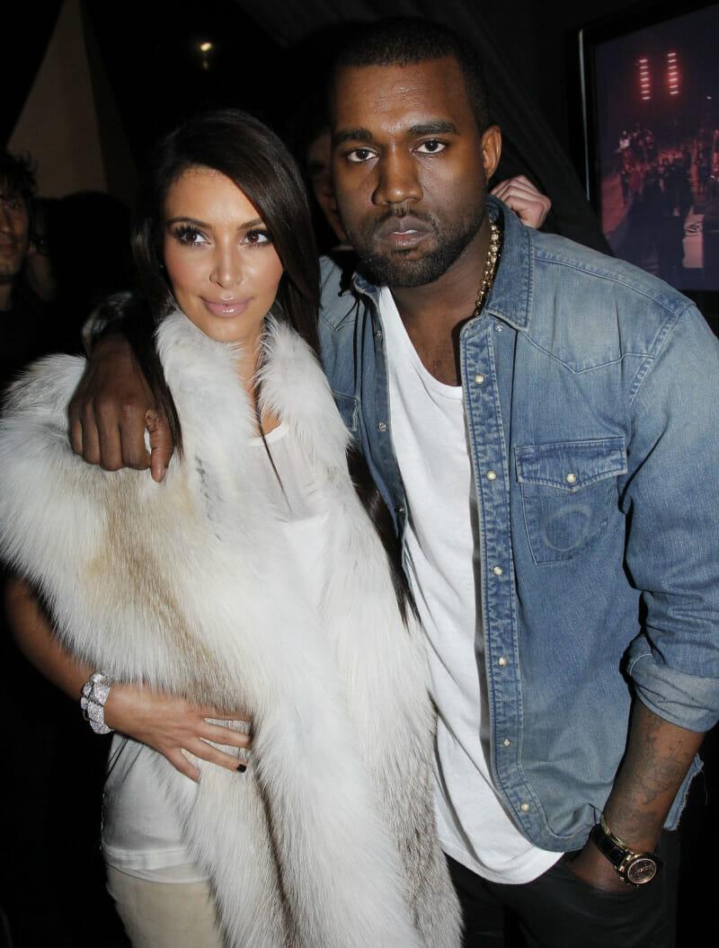 Kanye West with his gold Rolex Daytona