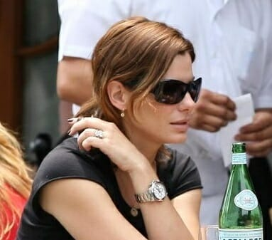 Sandra bullock wears a rolex watch rubber b for Celebrity wearing rolex watches