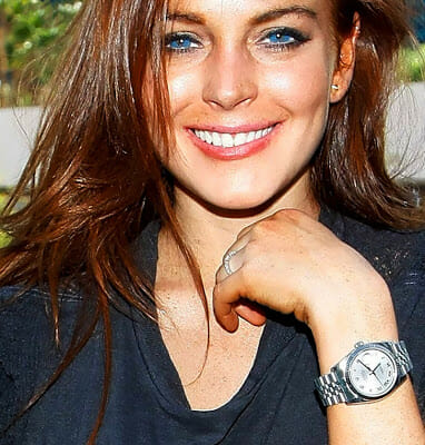 Lindsay Lohan sporting a Rolex Datejust