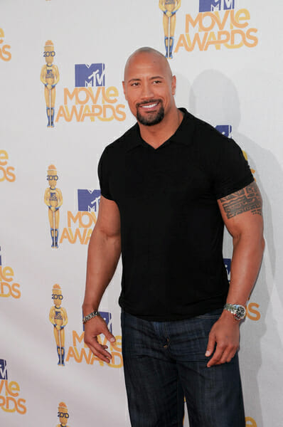 Dwayne Johnston The Rock Wearing A Panerai Watch Rubber B