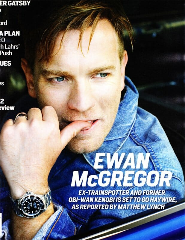 Ewan mcgregor wearing a submariner rubber b for Celebrity wearing rolex watches