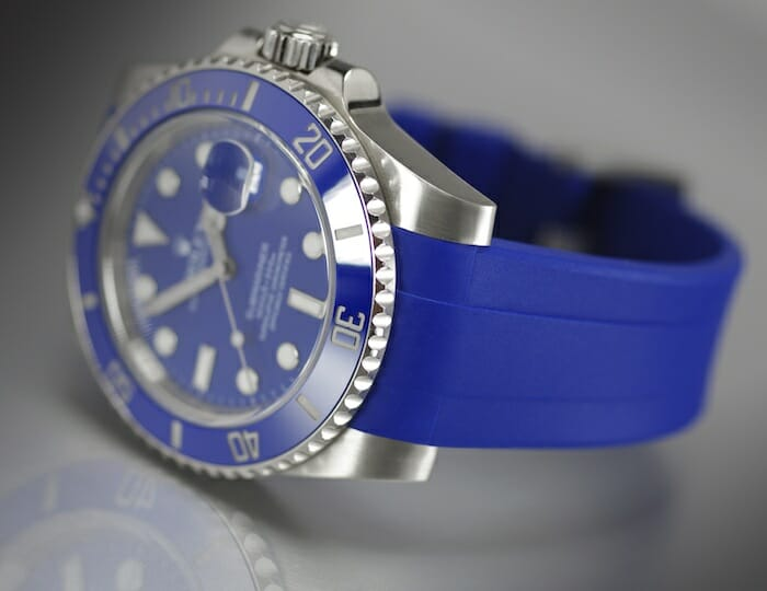Rolex Submariner White Gold With Ceramic Blue Bezel 116619