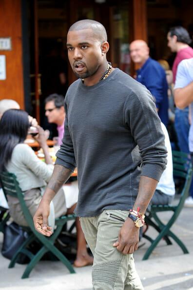 Kanye West Sporting A Rolex Daytona Rubber B