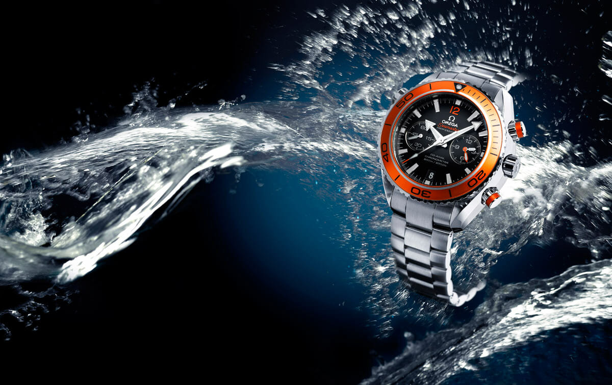 Omega the seamaster series rubber b for Plante orange