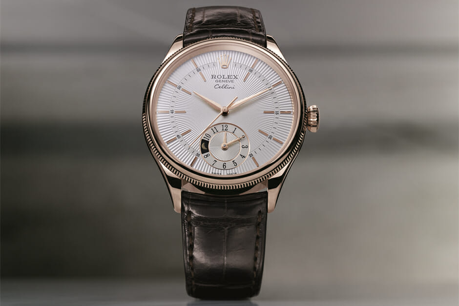 Aesthetic Details Of The Rolex Cellini Dual Time Rubber B