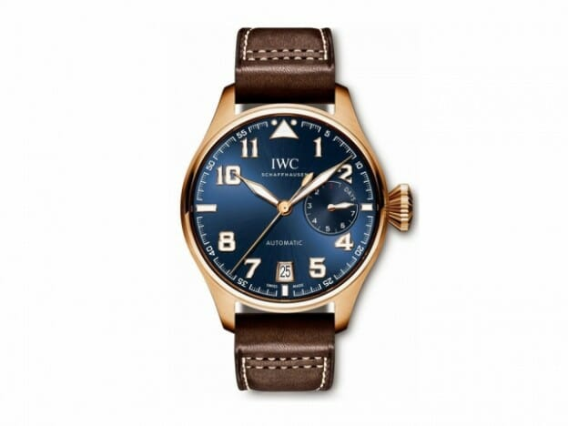IWC- BIG PILOT LE PETIT PRINCE ROSE GOLD WATCH ON LEATHER WATCHBAND