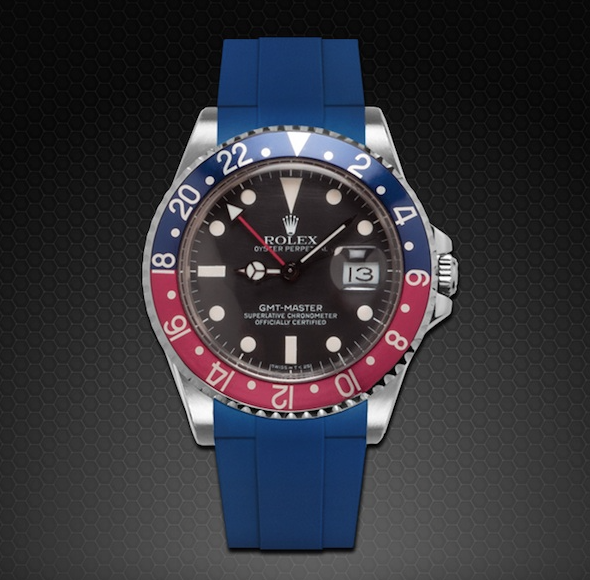RUBBER B STRAP FOR ROLEX GMT MASTER II