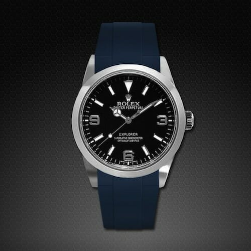 The Rolex Explorer 39 Mm Rubber B