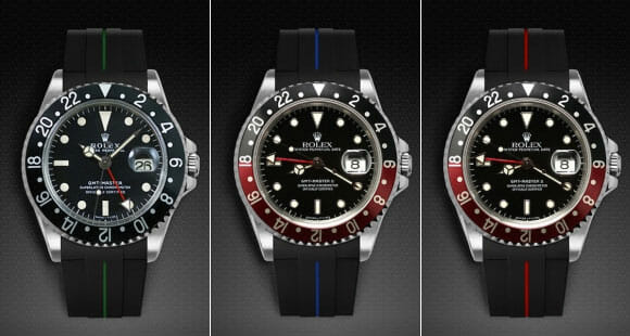 RUBBER B WATCH STRAPS PERFECTLY DESIGN FOR ROLEX GMT