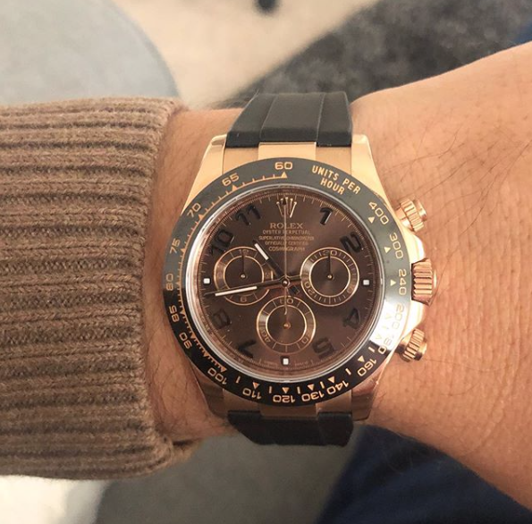 Rolex Leather Strap Replacement for Rose Gold Rolex Daytona