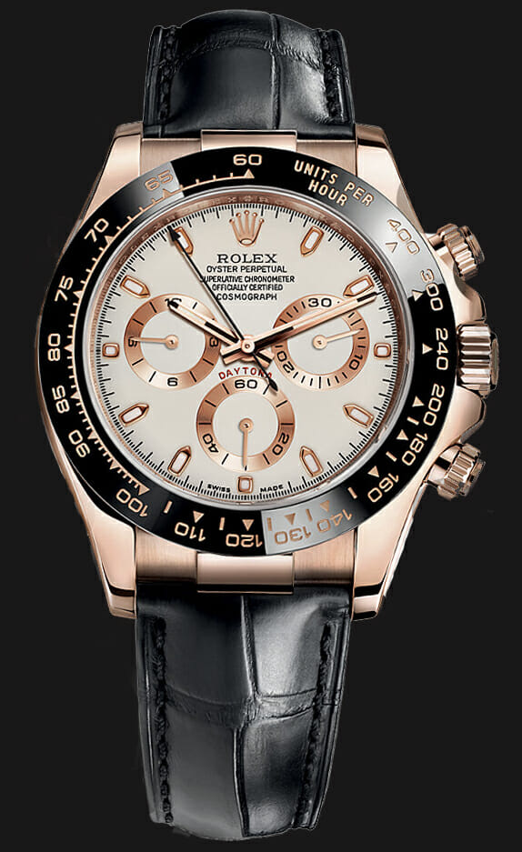 Rolex Daytona Rose Gold With Leather Strap Armourseal Co Uk