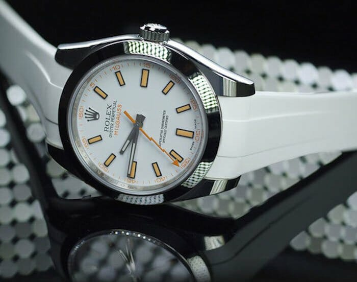 Photo of Arctic White Strap for Rolex Milgauss 40mm - Classic Series