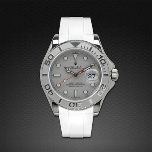 Photo of Arctic White Strap for Rolex Yachtmaster 40mm - Tang Buckle Series