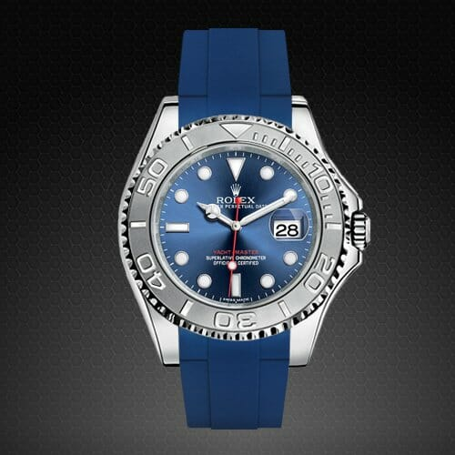 Photo of Pacific Blue Strap for Rolex Yachtmaster 40mm - Tang Buckle Series