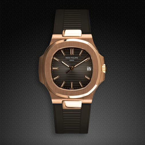 Photo of Espresso Brown Strap for Patek Philippe Nautilus 5711
