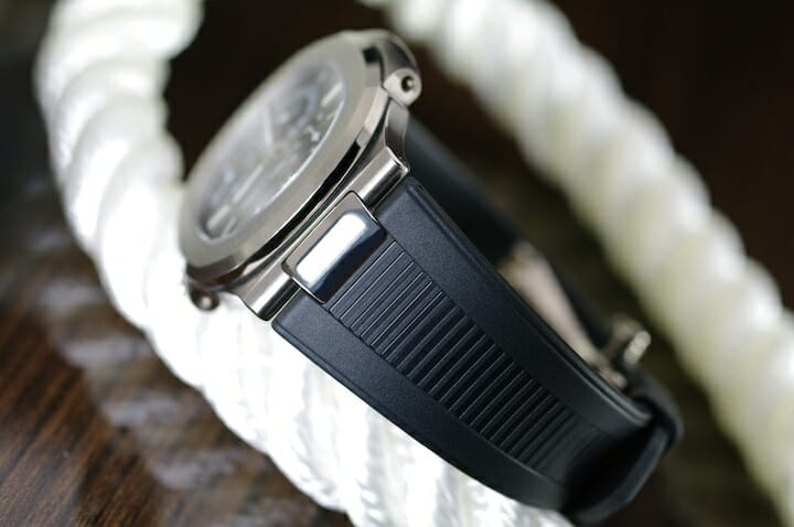 Photo of Jet Black Strap for Patek Philippe Nautilus 5711