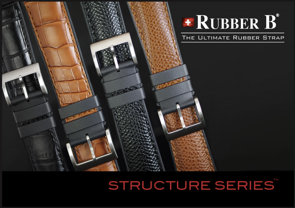 Photo of Rubber B Structure Series Genuine Leather Straps