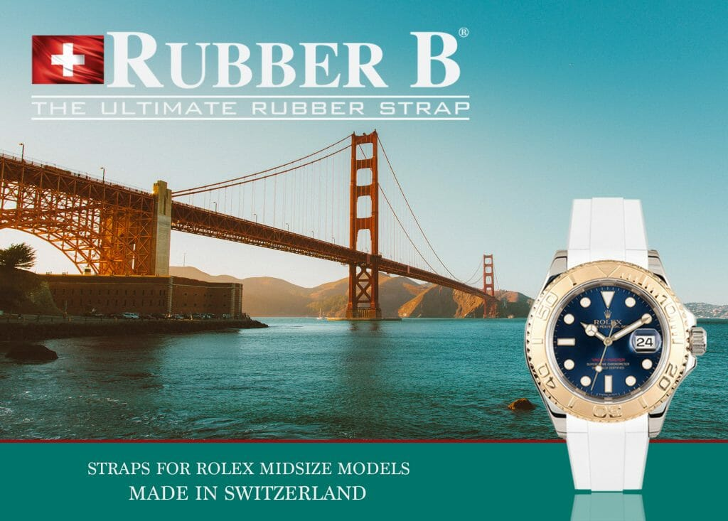 Ad for Rubber B Straps for Rolex Yacht-Master 35mm