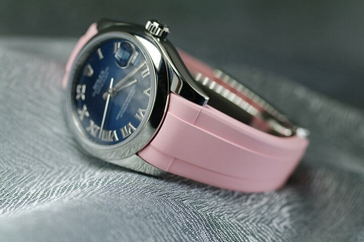 Photo of Pink Flamingo Rubber Strap for Rolex Datejust 31mm