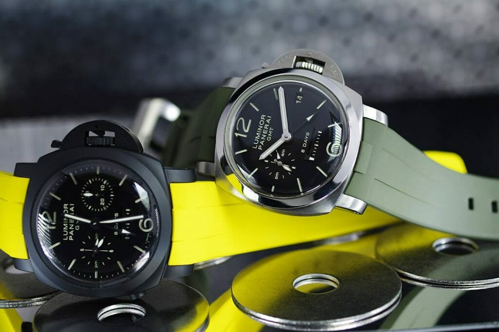 Photo of Swiss Made Rubber B Straps for Panerai Luminor Models