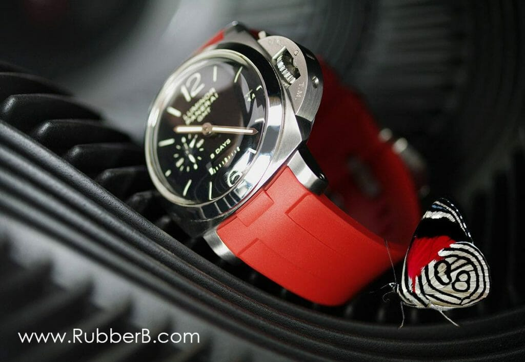 photo of Red Devil Rubber B Strap for Panerai Luminor 1950 Models
