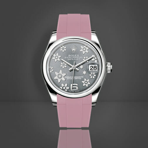 Photo of Pink Flamingo Rubber B Strap for Rolex Datejust 31
