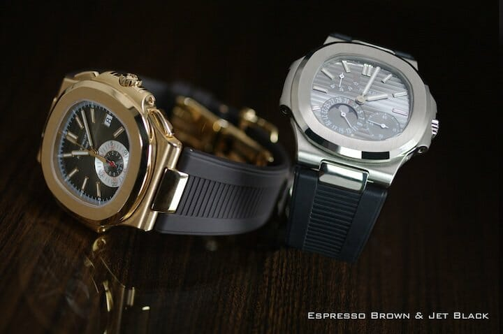 Patek Philippe Nautilus 5980 and 5712 on Rubber B Straps