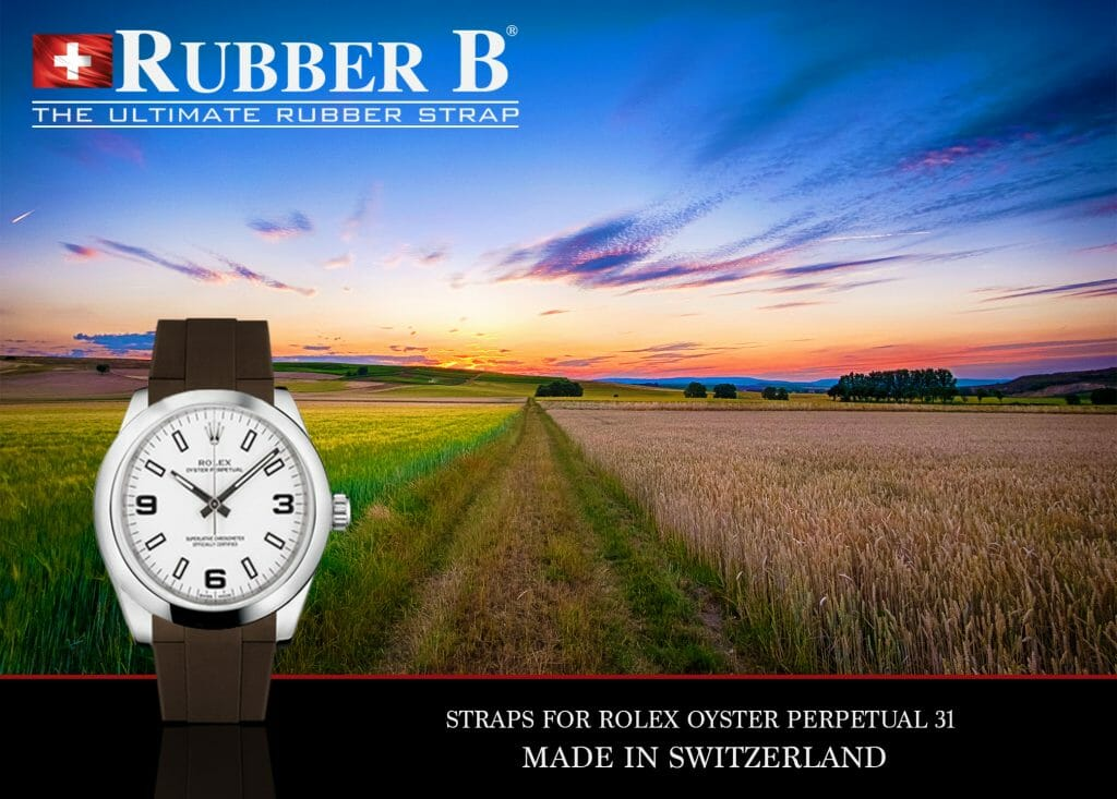 ad for Rubber B Straps for Rolex Oyster Perpetual 31 (Photo: Frank Köhntopp)