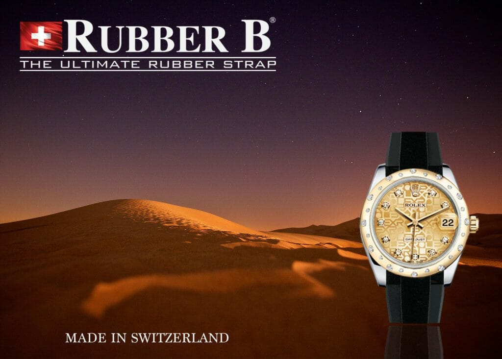 Rubber B Tuxedo Velour Straps for Rolex Midsize Models (photo: Tim de Groot)
