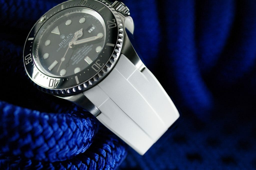Photo of Rolex Deepsea on Arctic White Rubber B Strap