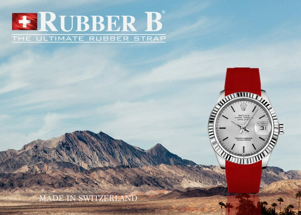 Ad for Red Devil Vulcanized Rubber Strap for Rolex Datejust 31