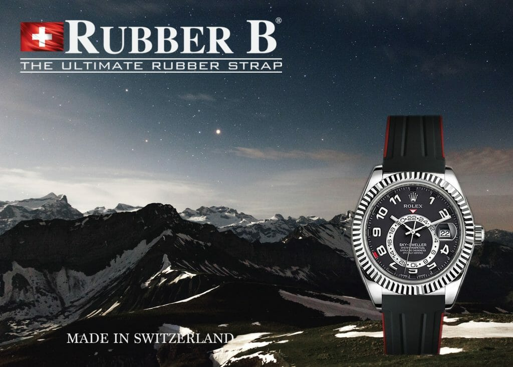 ad forRolex Sky-Dweller on Swiss Made Rubber B Strap (photo: Dino Reichmuth)