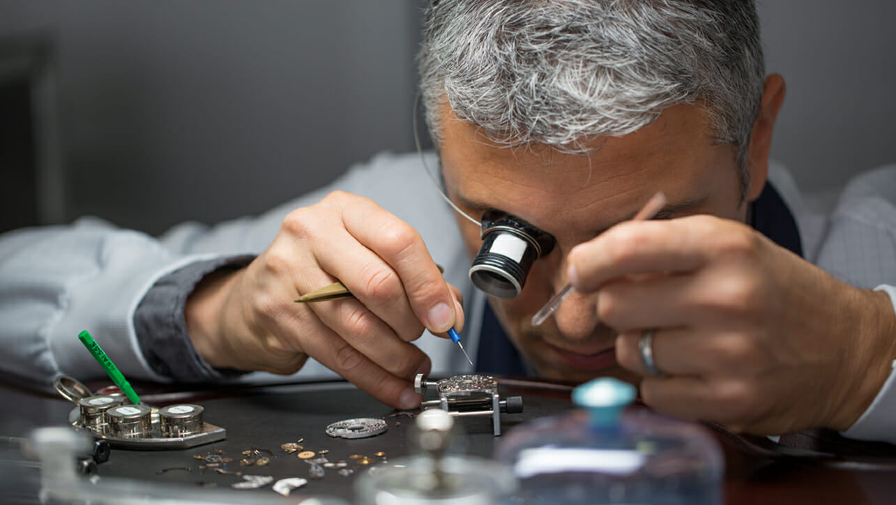A Watchmaker in the Officine Panerai Manufacture (photo: Panerai)