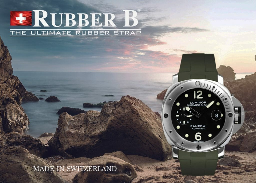 Military Green Rubber B Strap for Panerai Submersible