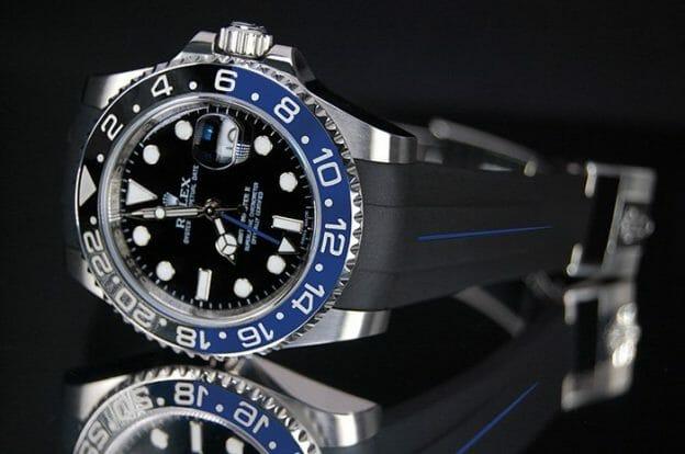Rubber B VulChromatic Strap for Rolex GMT-Master II BLNR