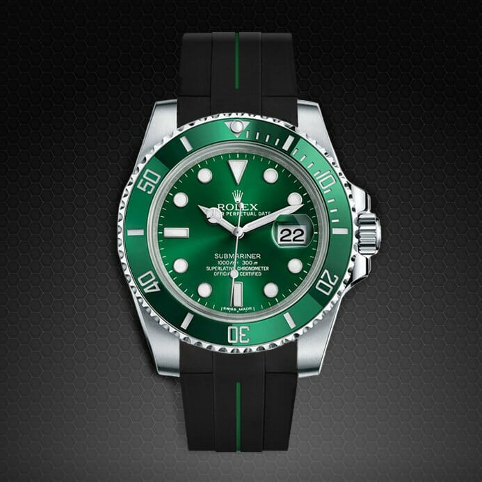 Rolex Submariner Rubber Strap Green and Black...