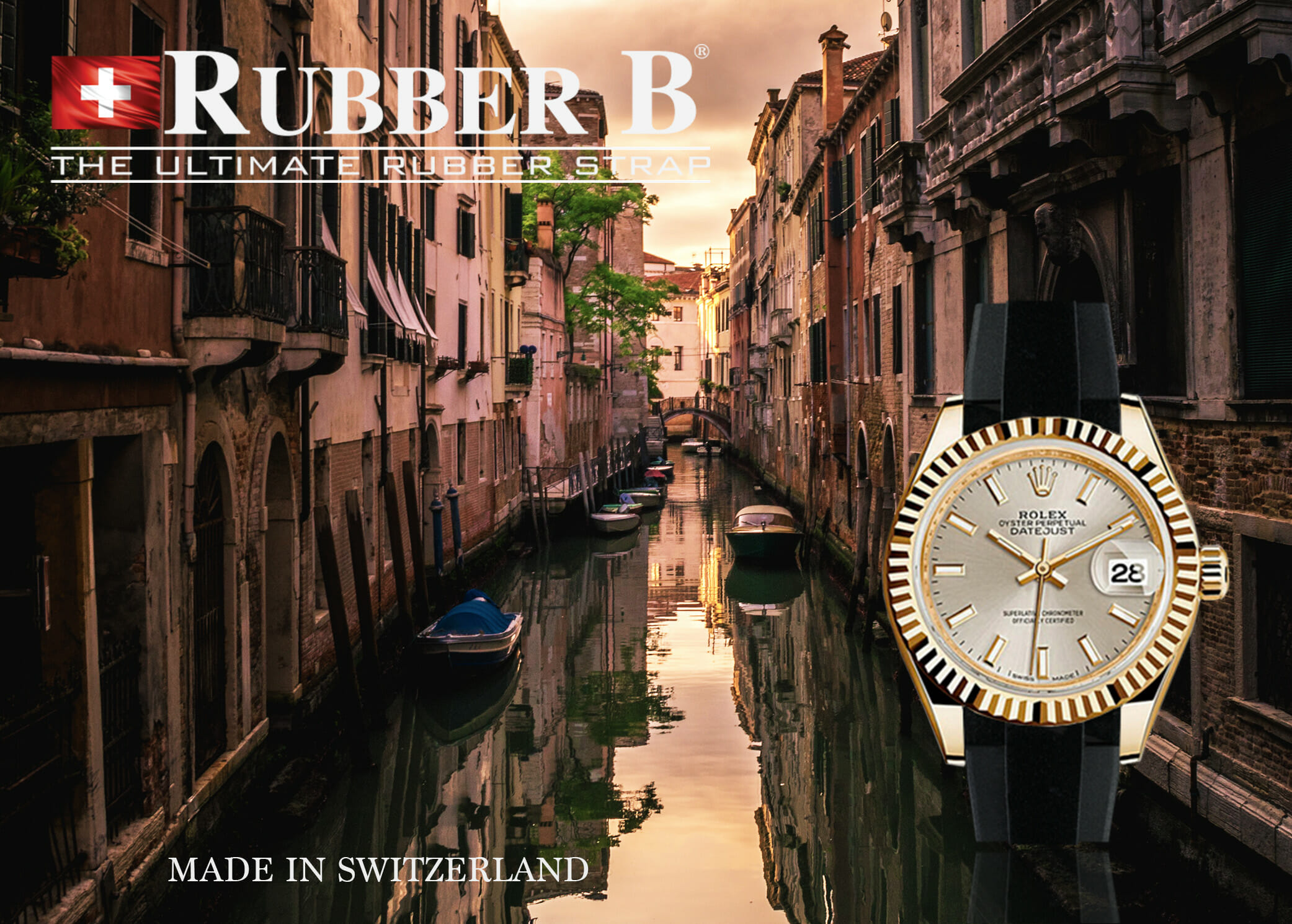 Rubber B Tuxedo Velour Straps for Rolex Midsize Models