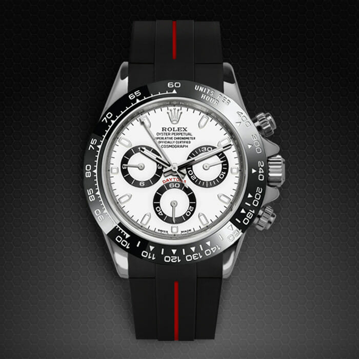 Real Rolex Watches >> Swiss Made Rubber Strap for Rolex Daytona 116500LN | Rubber B