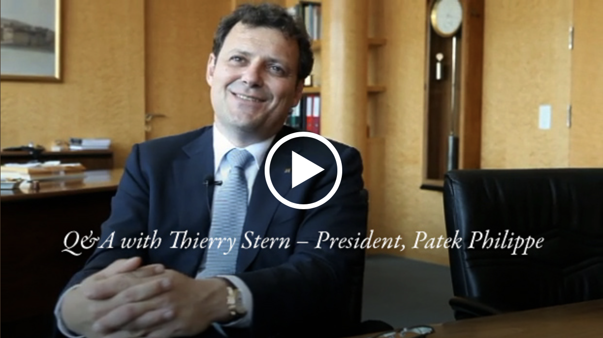 Q & A with Patek Philippe President Thierry Stern