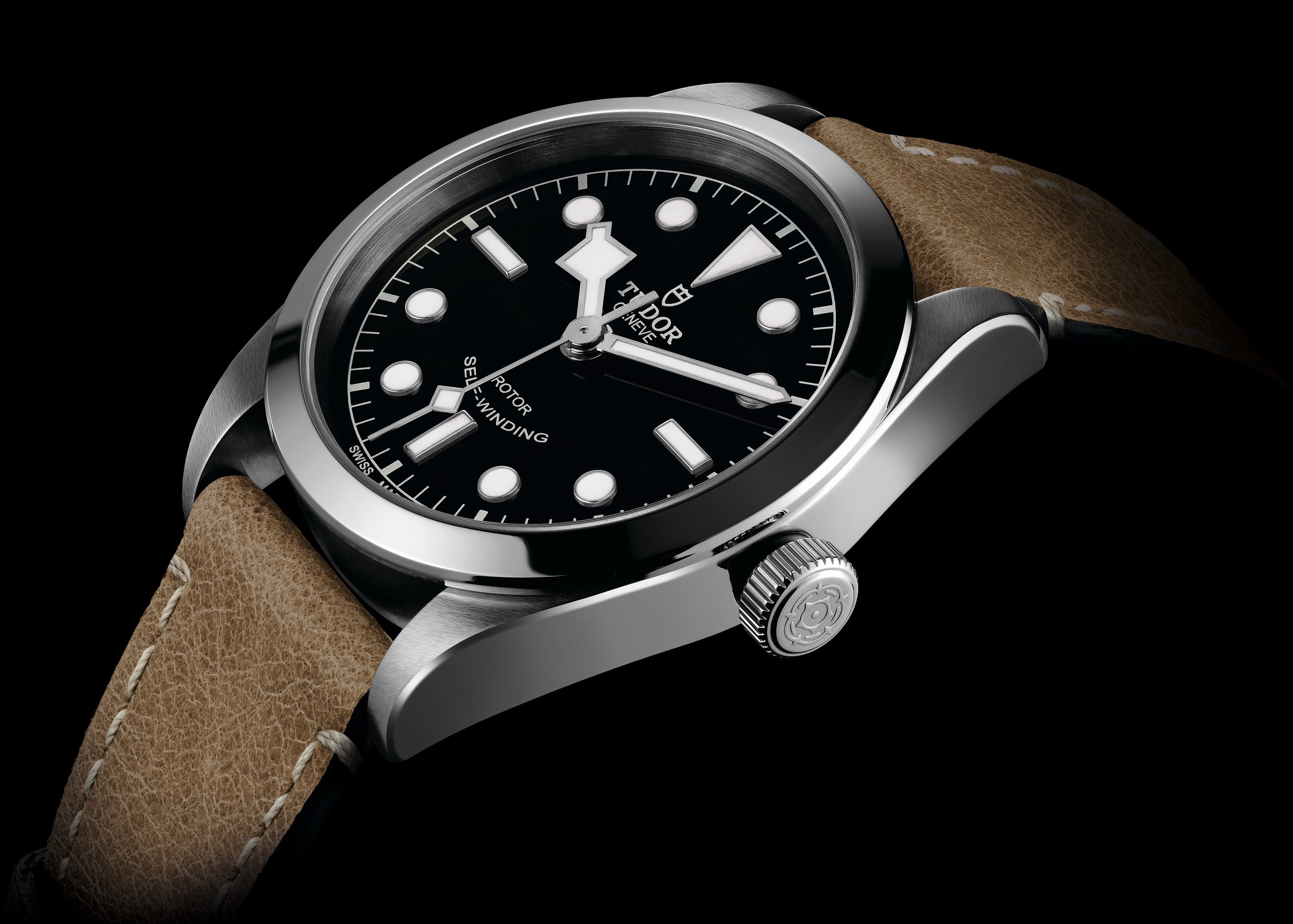 Tudor Black Bay 36 on Leather Strap