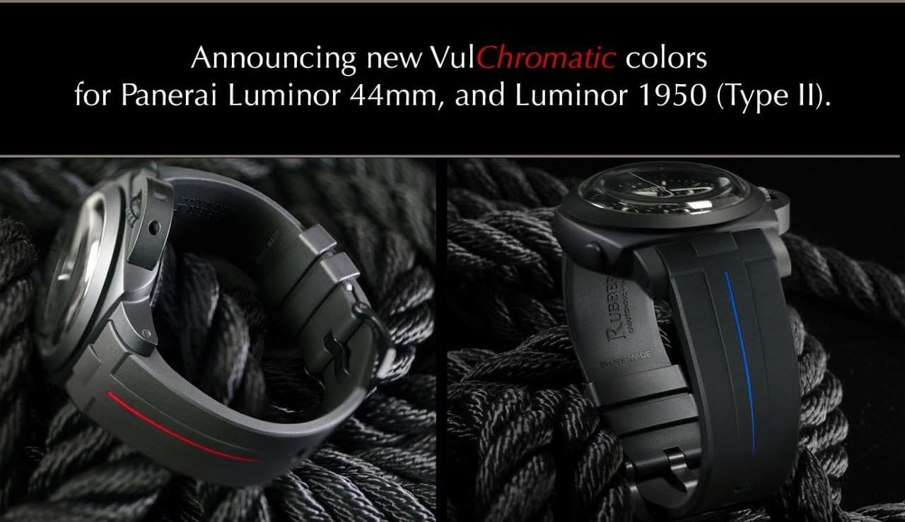 New VulChromatic Colors for Rubber B Panerai Luminor 44mm Straps