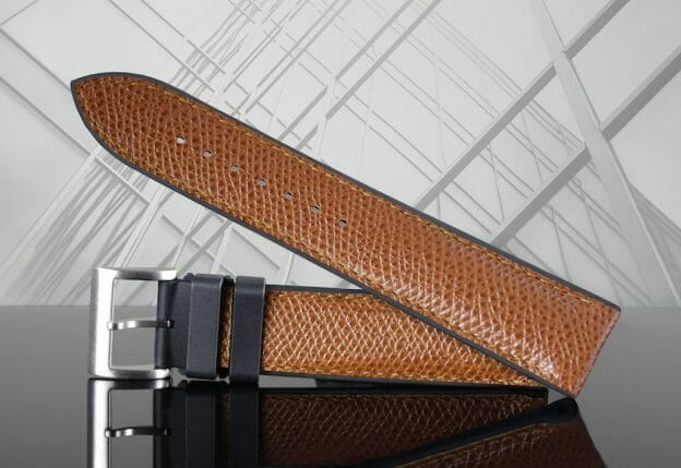 photo of Saddle Brown Full Grain Leather Rubber Watchband by Rubber B