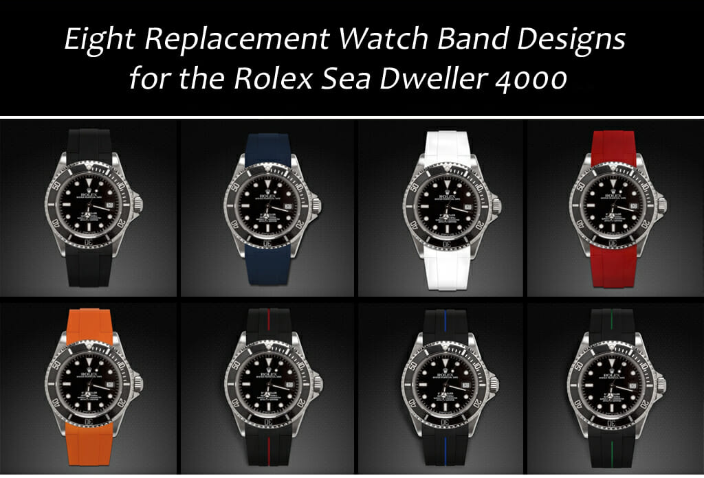 8 Replacement Watch Bands for the Rolex Sea Dweller 4000
