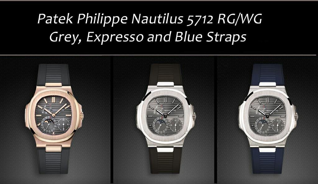 Patek Philippe Nautilus 5712 RG Grey Expresso Blue Straps