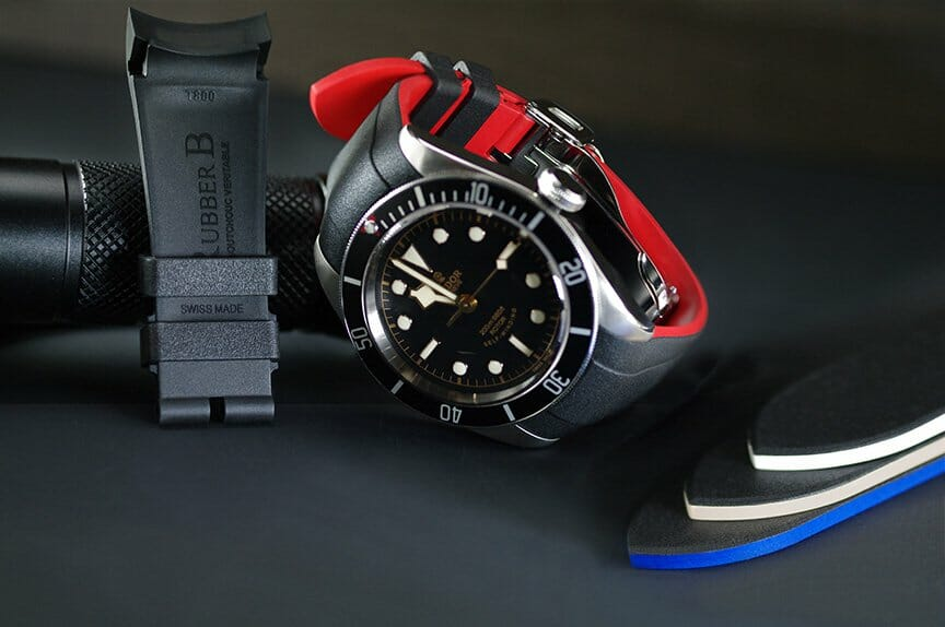 Replacement Rubber Straps for the TudorHeritage Black Bay