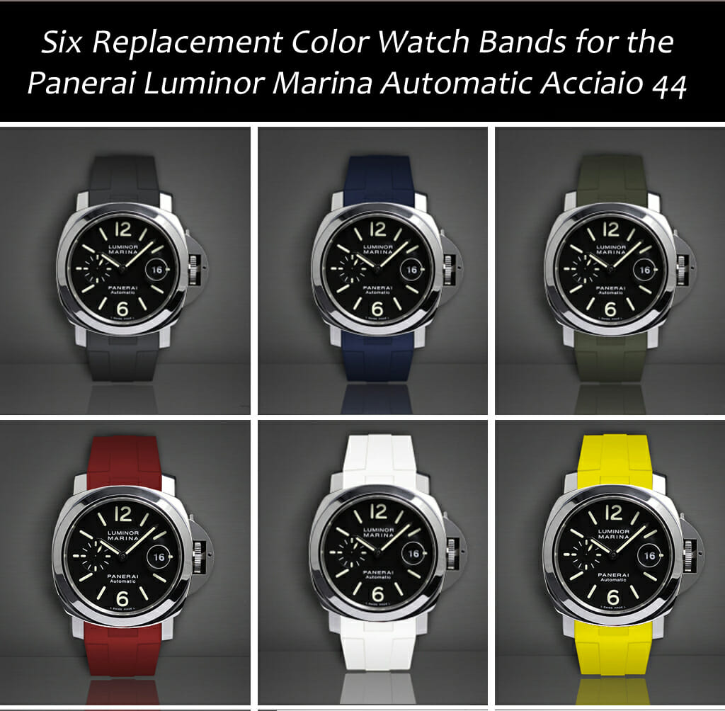 6 Replacement Watch Straps for the Panerai Luminor Marina Automatic Acciaio 44MM