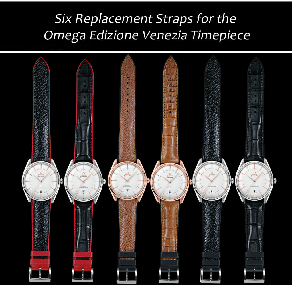 Replacement Watch Bands for the Omega Seamaster Edizione Venezia Watch
